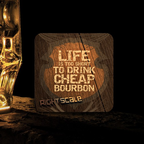 Creative Coasters for Beer and Bourbon Party