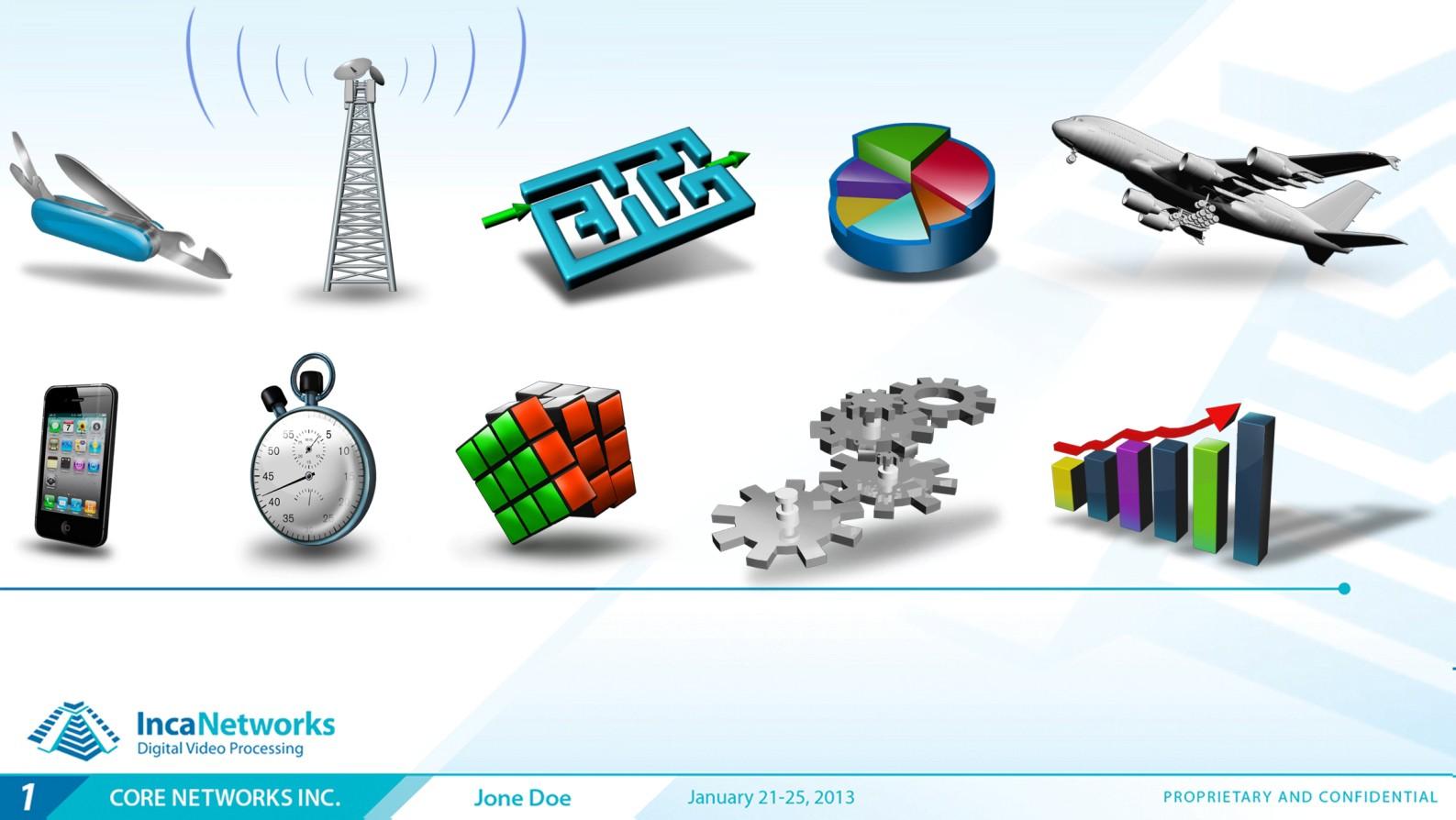 Viva! Design Custom Retro 3D Icons for our Presentations.