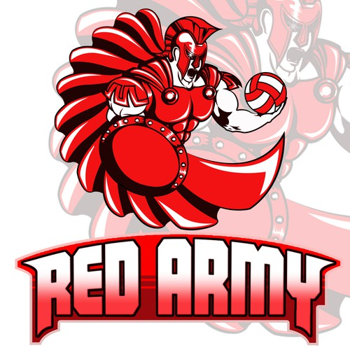 Create a cool, intense, captivating and intimidating logo for a Sports Team - RED ARMY