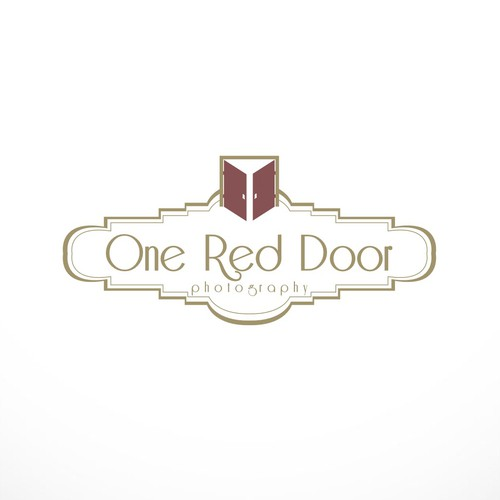 Create an interesting/soft logo that brides will see everywhere and associate w/ One Red Door Photo