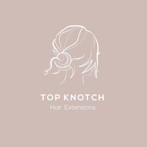 Logo for clip in hair extensions