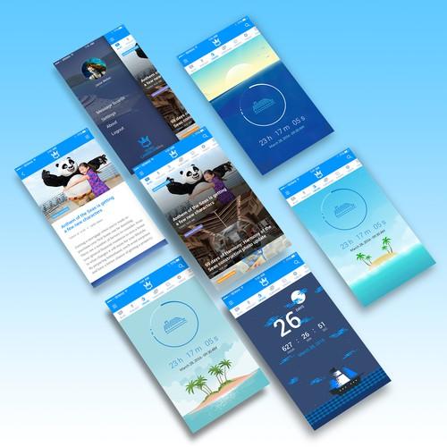 Travel Blog iOS App Design