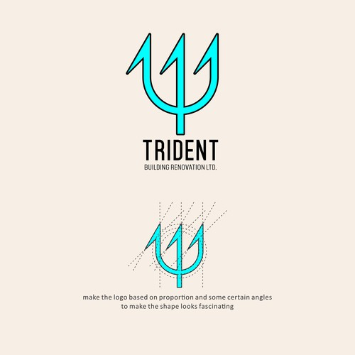 Concept for trident logo