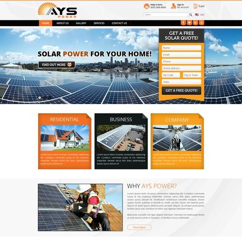 Create a stunning solar contractor website.