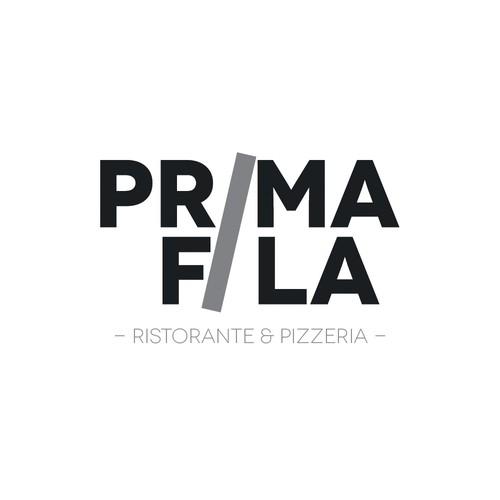 logo per ristorante pizzeria PrimaFila
