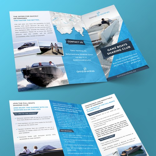 Brochure design for Boats sharing club