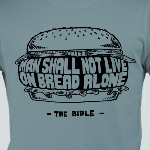 A funny t-shirt design inspired by a Bible verse
