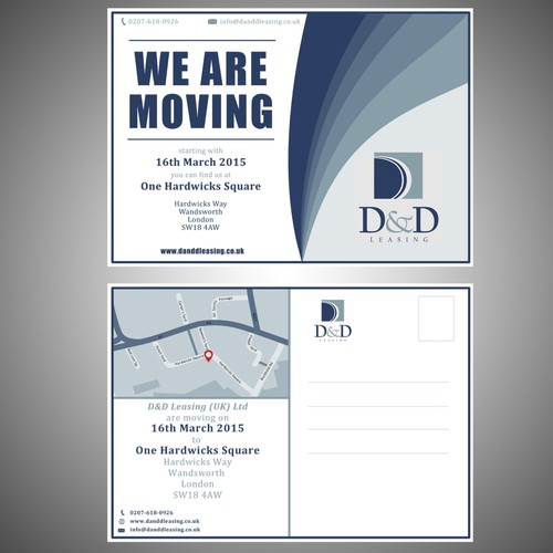 Leasing Company Postcard