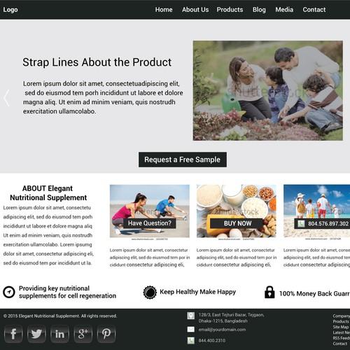 Nutrition Supplement Website Design