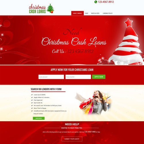 Wordpress Design For Christmas Cash Loan Company