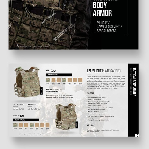 Body Armor Products Catalog for UARM