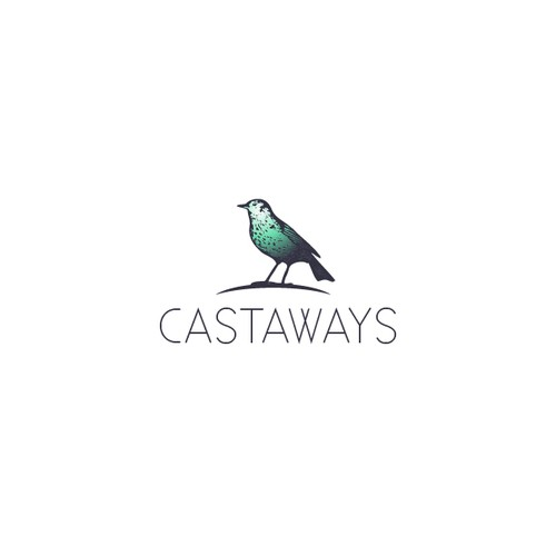 Castaways resort's logo design