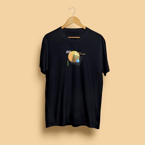 T-shirt design mockup for Sinergy Solar