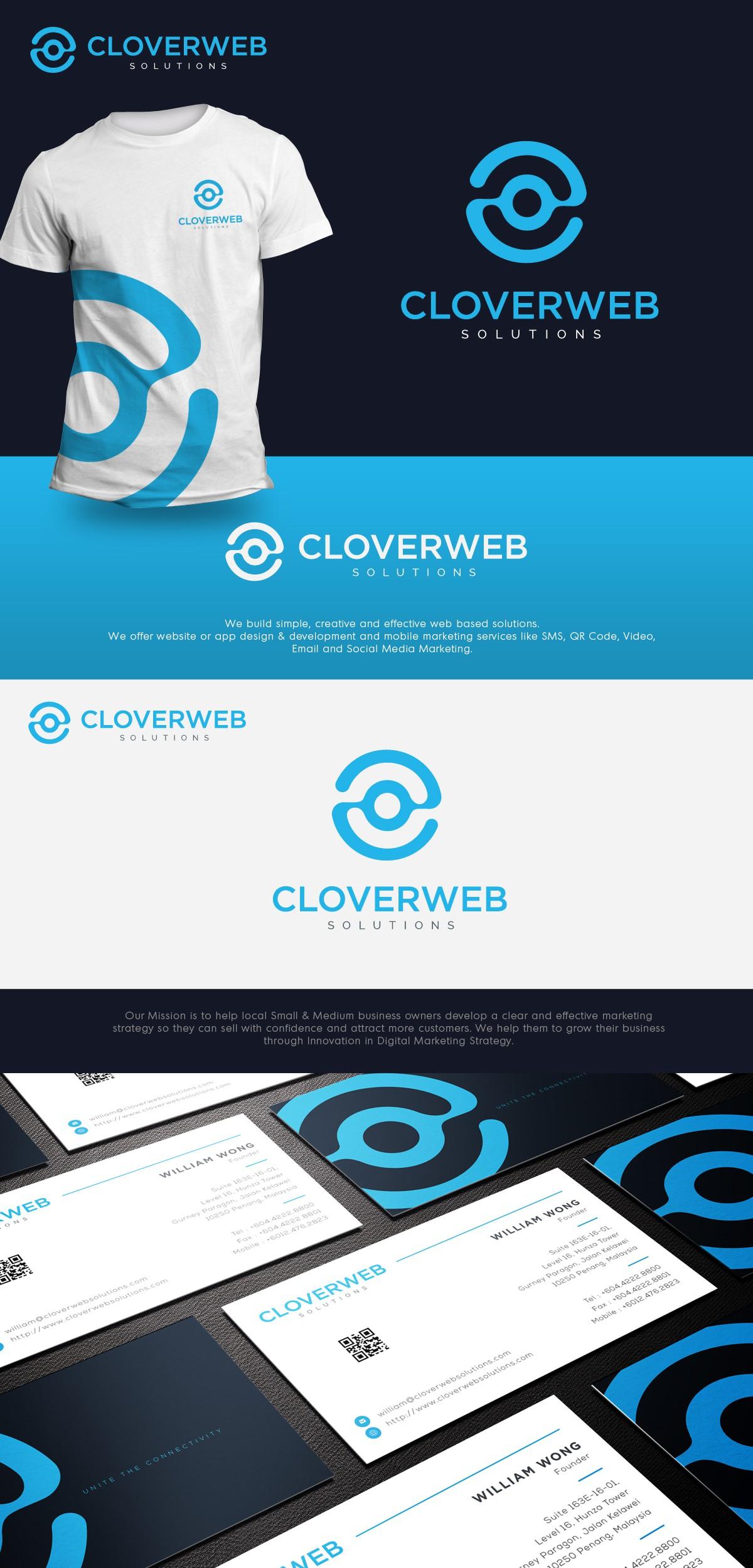 Create a Simple, Unique, Modern & Elegant Logo + Business Card (w/QR) for a Web Agency