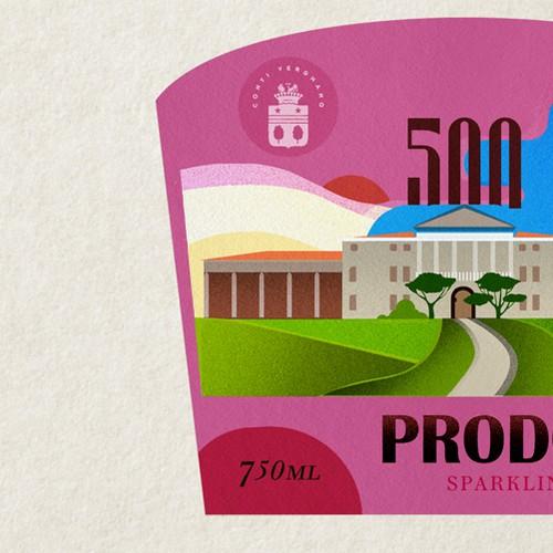 Label for sparkling wine