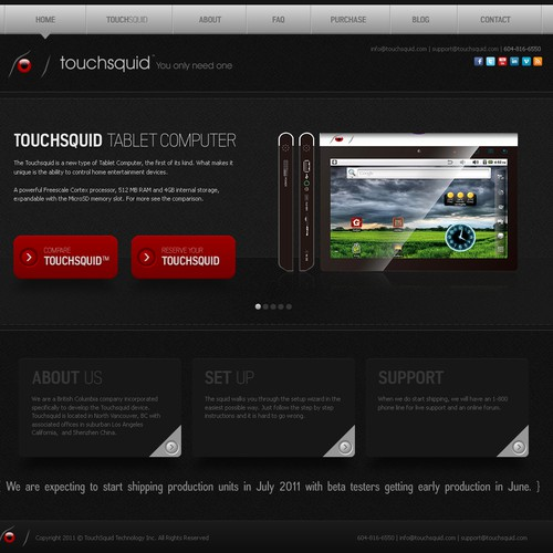Help Touchsquid with a new website design
