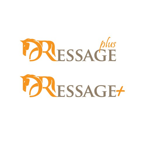 Simple and unique logo design for DRessage Plus