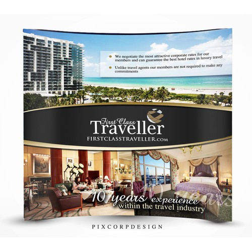 Exhibition Stand / Signage for First Class Traveller
