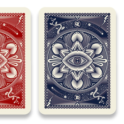 Back of playing cards for magician.