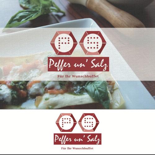concept logo for Peffer un' Salz (catering company)