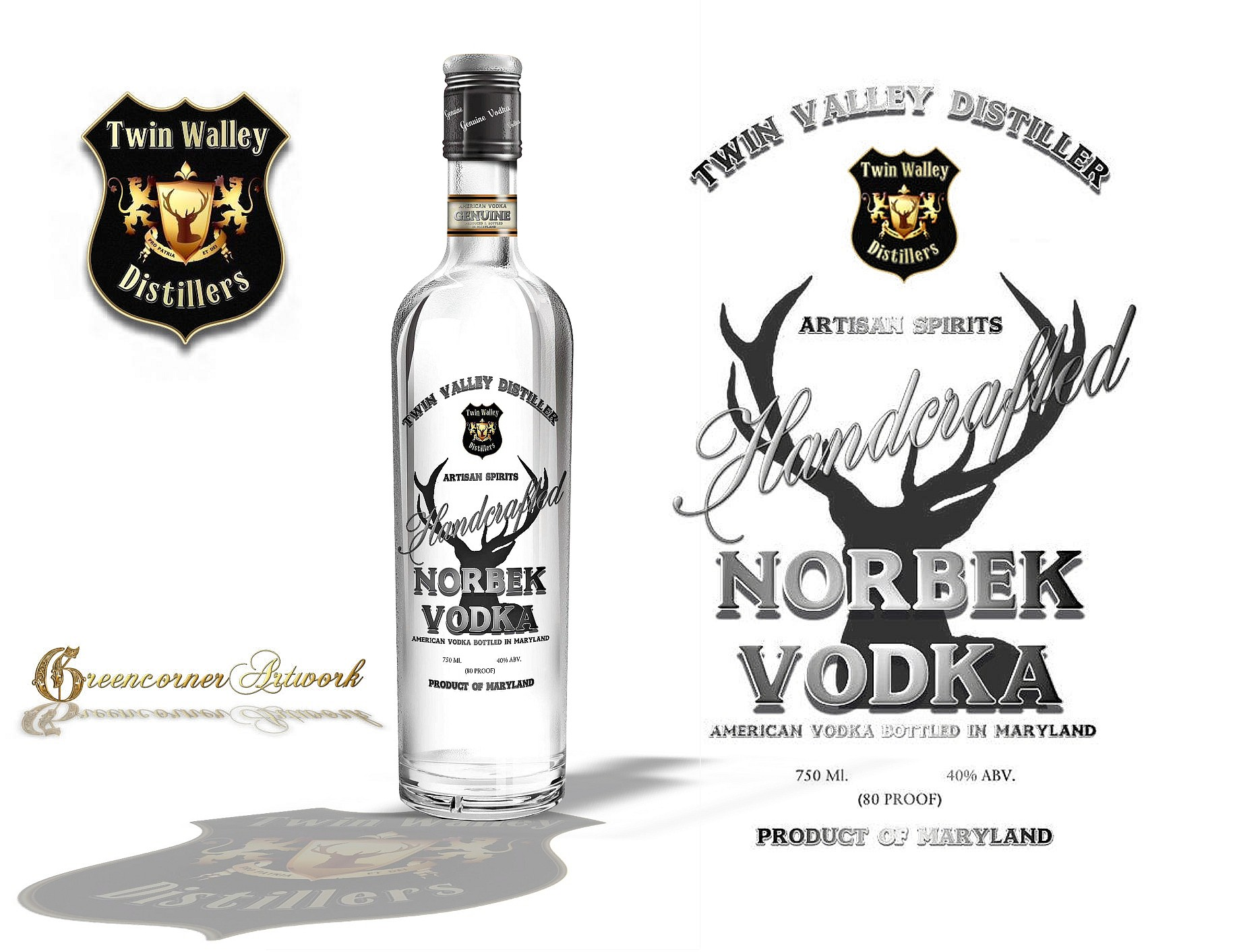 product label for Twin Valley Distillers