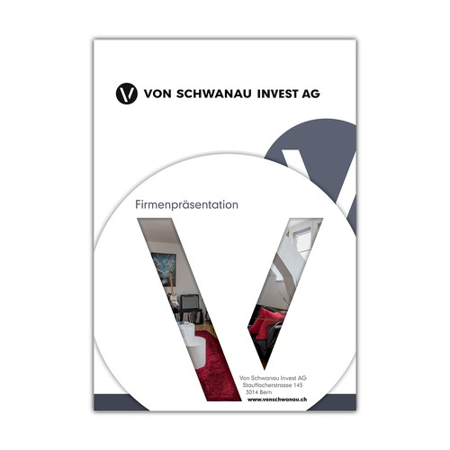 Titelseite für eine 8seitige Broschüre