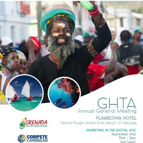Poster concept for Go Pure Grenada