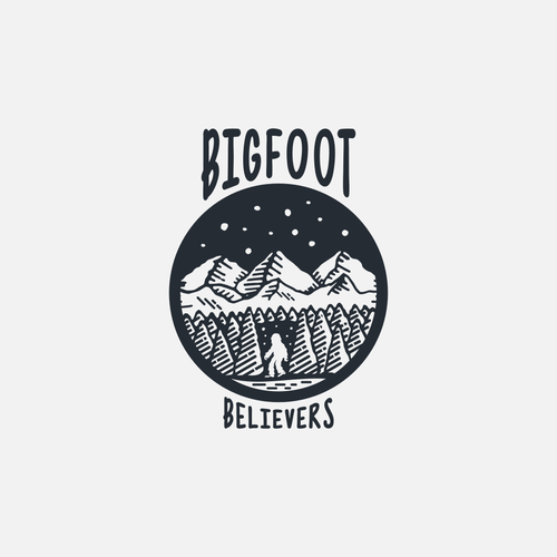 Handmade logo for bigfoot believers