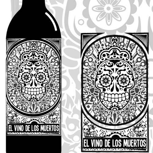"Vinos de Los Muertos Winery (""Day of the Dead"" Winery) needs a new product label"