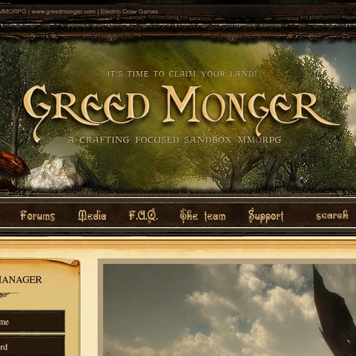 New website design wanted for Greed Monger - Sandbox MMORPG