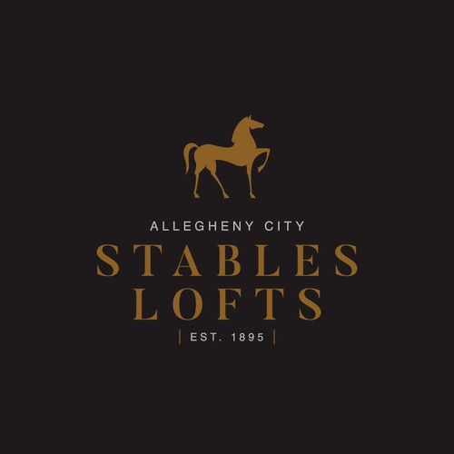Logo for an apartment building