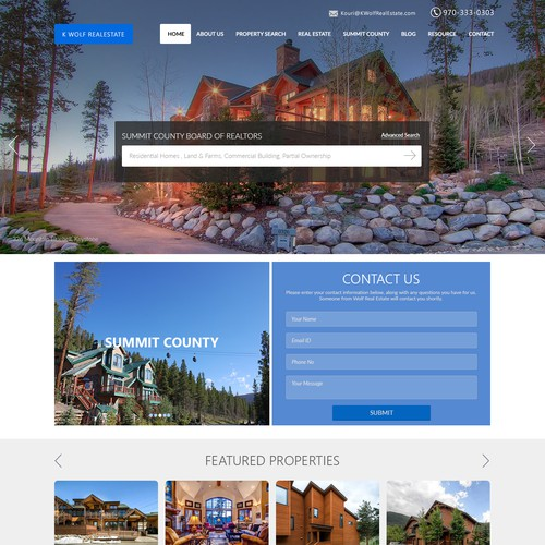 Web Page Design for Realestate