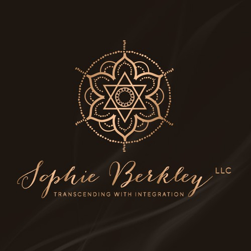 An elegant logo design for a meditation teacher
