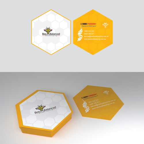 "Concept Design Business card "" Bee Balanced """
