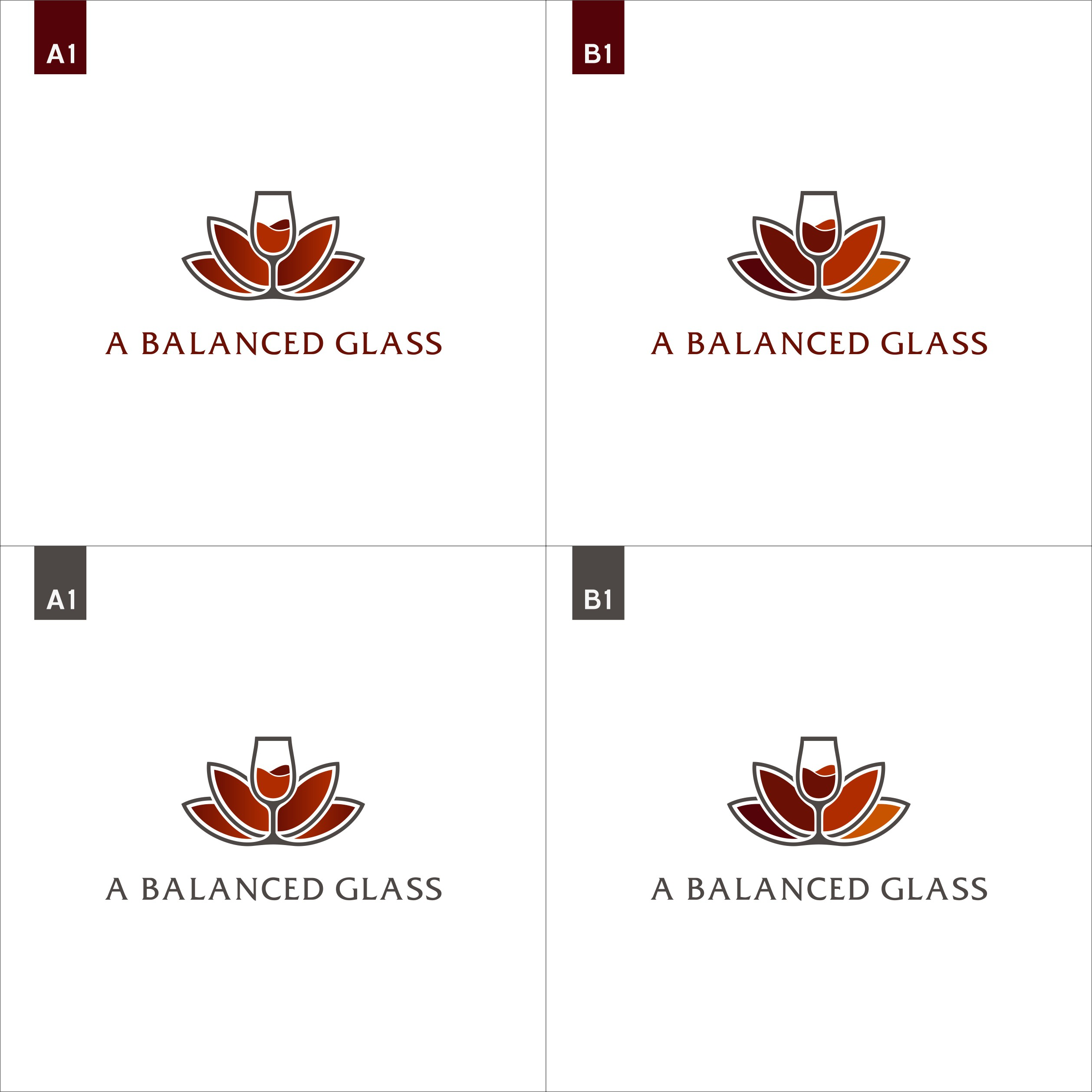 """Pour your talents into A Balanced Glass logo design"""