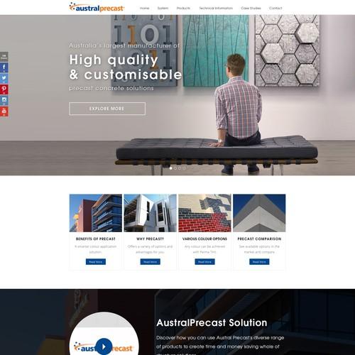Austral Precast Web Site Design