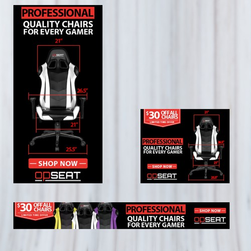 Banner design for Gaming Chair