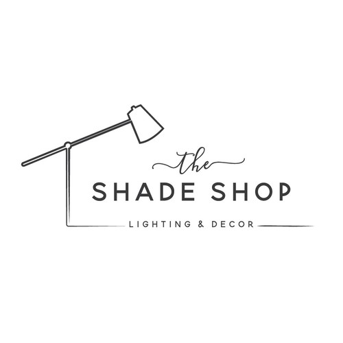 Simple line art for a lamp and lighting store