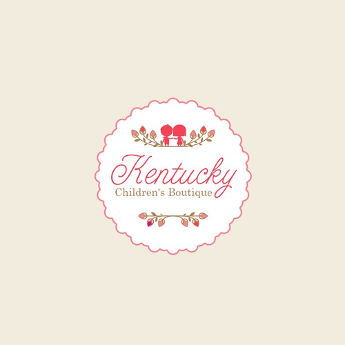A feminine and cute logo for Southern children boutique