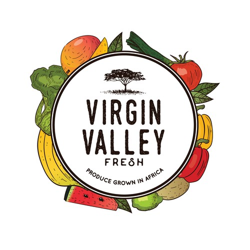 Logo for produce company