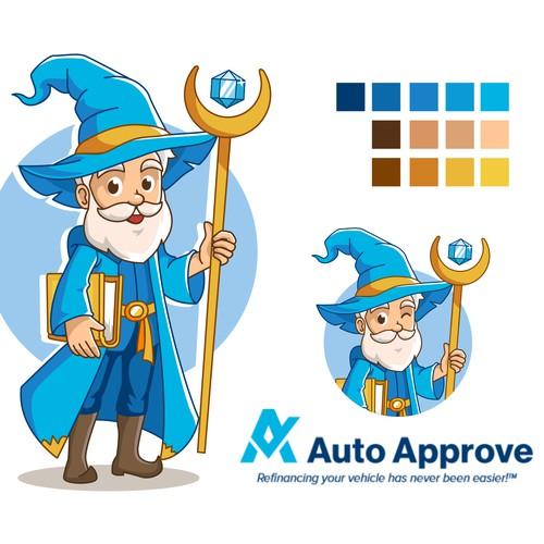 Auto Approve Logo Mascot