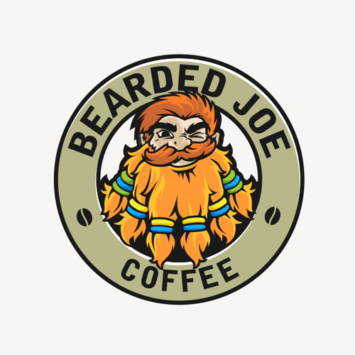 "Create the most ""bad ass"" Logo for The Bearded Joe Coffee Company"