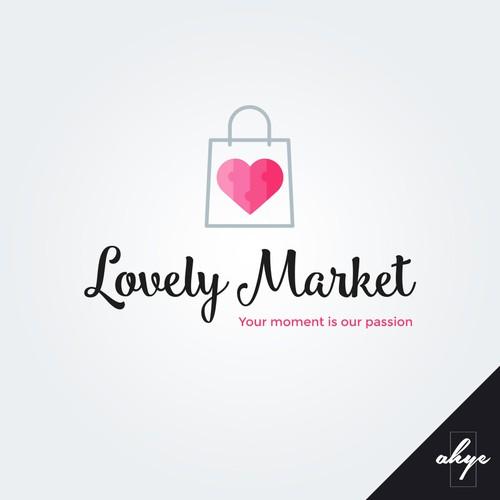 Logo concept for Lovely Market