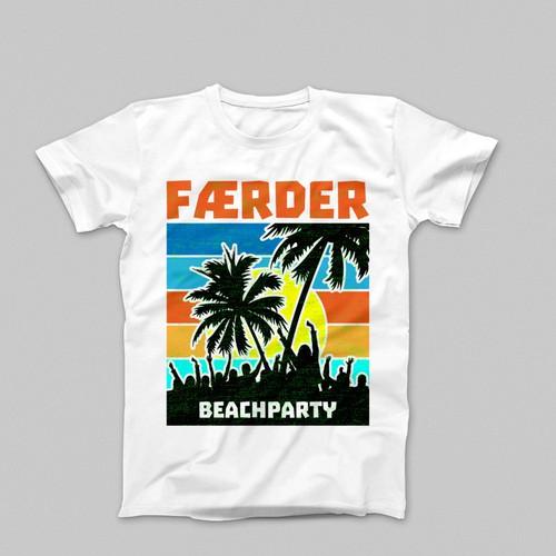 Beachparty t-shirt design