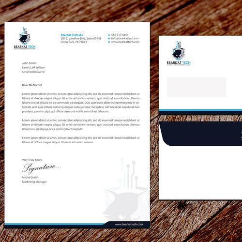 BearKat Tech Letterhead & Envelope Designs