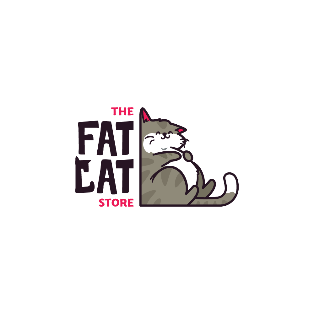Create a fun and humorous logo for an online cat store!