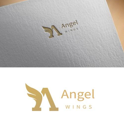 Angel Wings Logo Design