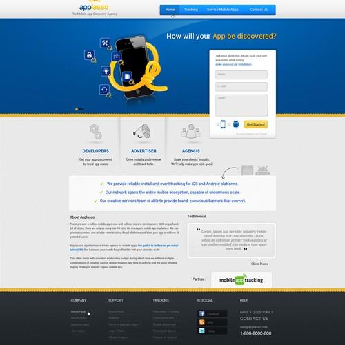 Create the next website design for applasso