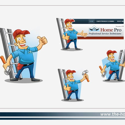 Looking for a cartoon Illustrated Mascot to relate our home repair company