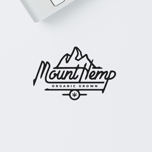 Hand lettering concept for Hemp company